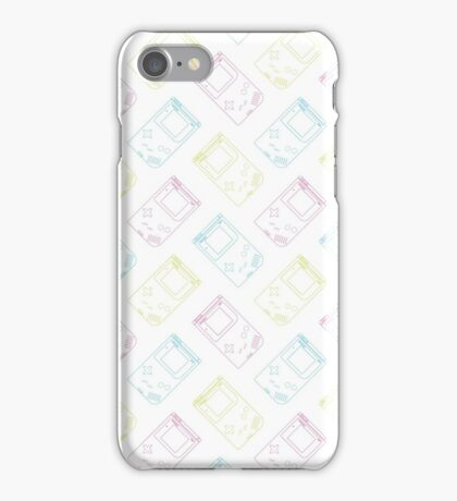 Gameboy Outlines (white) iPhone Case/Skin