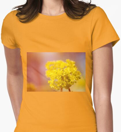 Acer inflorescence flowerets detail Womens Fitted T-Shirt