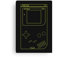 Single Gameboy Outlines Canvas Print
