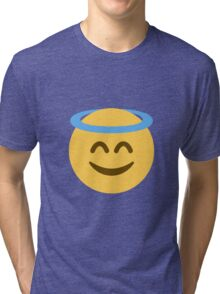 Smiling face with halo Tri-blend T-Shirt