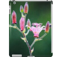 Toad lily flower opens for pollination iPad Case/Skin