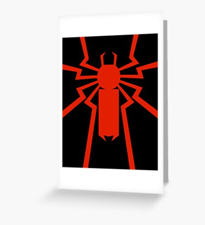 Thundering Spider Greeting Card