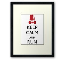 Keep Calm And Run Framed Print