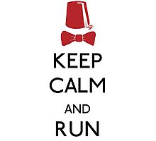 Keep Calm And Run Photographic Print