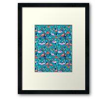 beautiful pattern lovers flamingo Framed Print