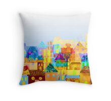 Paper town (Mixed) Throw Pillow