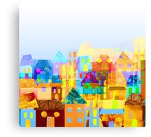 Paper town (Mixed) Canvas Print