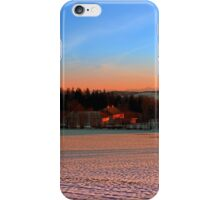 Colorful winter wonderland sundown III | landscape photography iPhone Case/Skin
