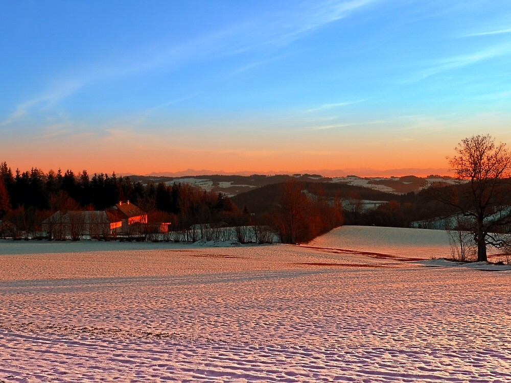 Colorful winter wonderland sundown III | landscape photography by Patrick Jobst
