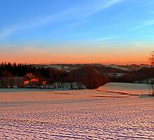 Colorful winter wonderland sundown III | landscape photography by Patrick Jobst