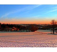 Colorful winter wonderland sundown III | landscape photography Photographic Print