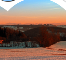 Colorful winter wonderland sundown III | landscape photography Sticker