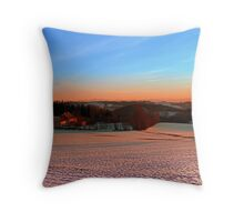 Colorful winter wonderland sundown III | landscape photography Throw Pillow
