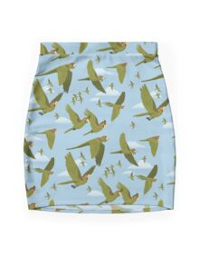 Parakeet Migration Mini Skirt