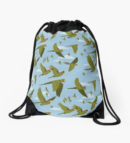 Parakeet Migration Drawstring Bag