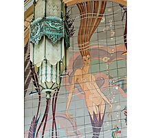 Avalon Casino entrance - mermaid mural Photographic Print