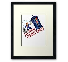 Super TimeLord Framed Print