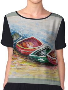 In From the Sea Chiffon Top