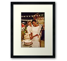 Cake Cutting Framed Print