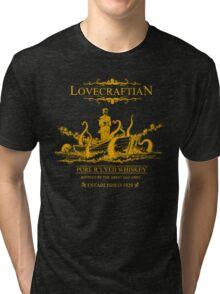 Lovecraftian - R'lyeh Whiskey Gold Label Tri-blend T-Shirt