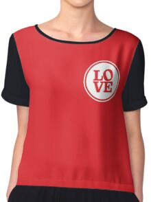 MODERN LOVE SPOT simple typography bright red Chiffon Top