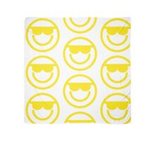 The Internet Generation Collection - Cool Sunglasses Emoji - Yellow and White Pattern Scarf