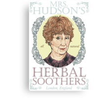 Mrs. Hudson's Herbal Soothers Canvas Print