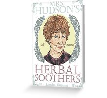 Mrs. Hudson's Herbal Soothers Greeting Card