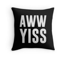 Aww Yiss Happy Aw Yes Throw Pillow