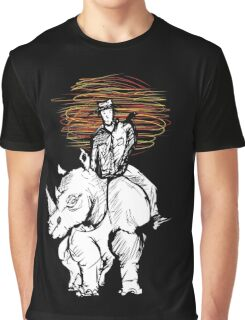 Pedestrian and Rhino Graphic T-Shirt