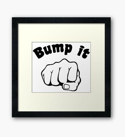 Fist Bump It Framed Print
