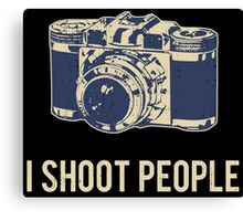 I Shoot People Photography Camera Canvas Print