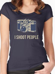I Shoot People Photography Camera Women's Fitted Scoop T-Shirt