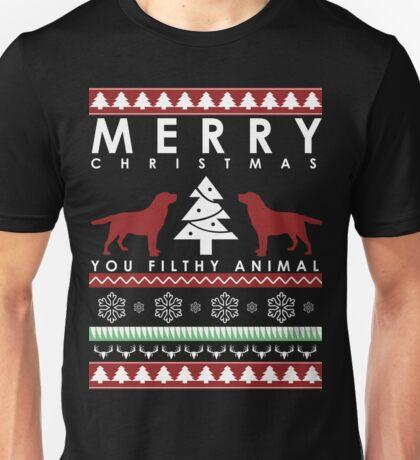LABRADOR RETRIEVER CHRISTMAS FILTHY ANIMAL Unisex T-Shirt