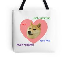 Doge Much Valentines Day Very Love Such Romantic Tote Bag
