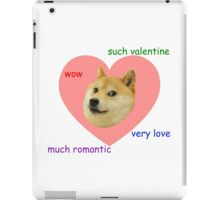 Doge Much Valentines Day Very Love Such Romantic iPad Case/Skin