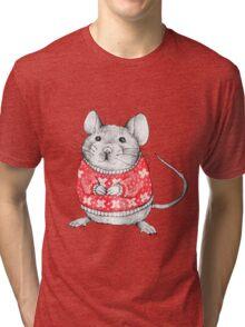 A Festive Mouse Tri-blend T-Shirt