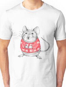 A Festive Mouse Unisex T-Shirt