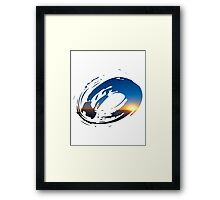 Brush Surfer Framed Print