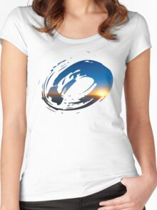 Brush Surfer Women's Fitted Scoop T-Shirt