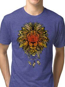 KING LION MANDALA Tri-blend T-Shirt