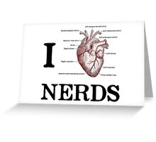 I Heart Nerds Greeting Card