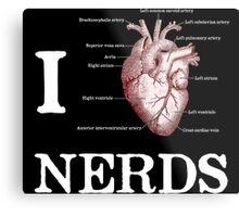 I Heart Nerds Metal Print