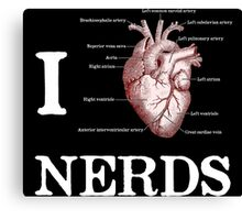 I Heart Nerds Canvas Print