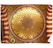 Notre-Dame de la Garde - a detail view of the ceiling Poster
