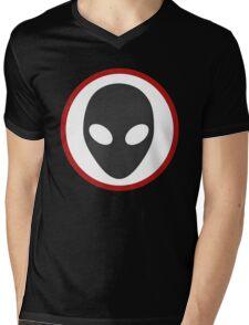 Alien Sign Mens V-Neck T-Shirt