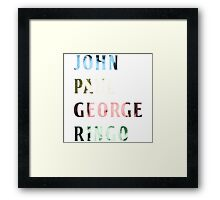 The Beatles Color Names Framed Print