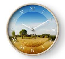Rural wheat fields view Clock