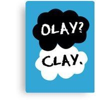 olay? clay. Canvas Print