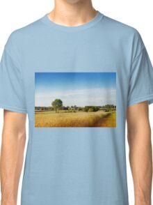 Rural wheat field view Classic T-Shirt